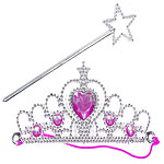 Tiara and Wand Set Fancy Dress