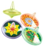 Clear Spin Tops