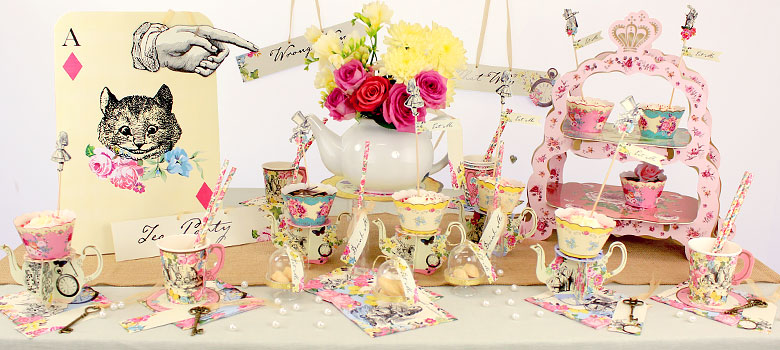 Truly alice alice in wonderland party supplies party for Alice in wonderland party decoration