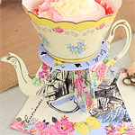 Truly Alice Teapot Cake Stands - 8cm