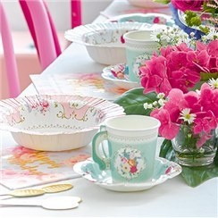 Truly Scrumptious Vintage Paper Cups with Saucers