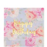 Truly Scrumptious Happy Birthday Napkins - 33cm