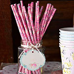 Truly Scrumptious Pink Paper Straws