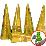 Holographic Gold Cone Shape