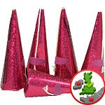 Holographic Pink Cone Party Poppers