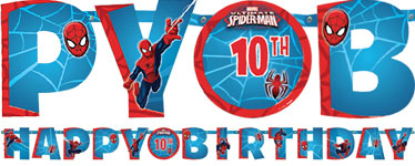 Spider-Man Banner - 1.6m Add An Age Letter