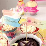 Cupcake/Canape Flags