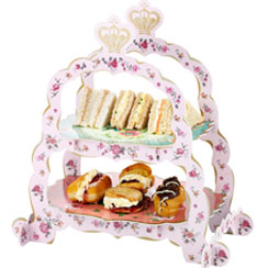 Truly Scrumptious Cake/Sandwich Tea Party Stand - 2 Tier