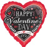 Happy Valentine's Day Chalkboard Balloon - 18