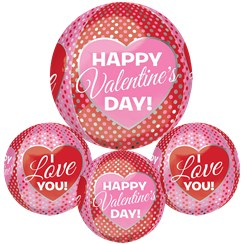 "Happy Valentines Day Orbz Balloon - 16""-18"" Foil"