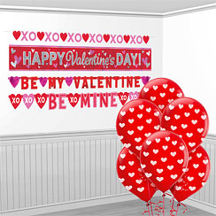 Valentines Value Decorating Kit - Banners and Balloons
