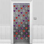 Red Door Curtain - 6.5ft