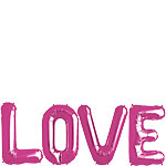 'LOVE' Pink Foil Balloon Kit - 16'' - SAVE 15%