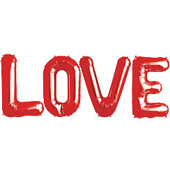 LOVE Red Foil Balloon Kit - 34""