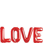 LOVE Red Foil Balloon Kit - 34'' - SAVE 8%