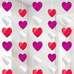 Heart String Decoration - 2.1m Valentines Decorations