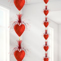 Valentines Heart Cascade Column Decoration - 2.13m
