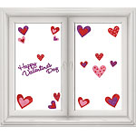 Glitter Heart Window Stickers