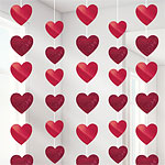 Red Heart Strings - 2.1m Valentines Decorations
