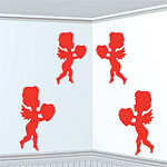 Cupid Card Cutouts - 30cm Valentines Decorations