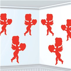 Valentines Cupid Card Cutouts Decorations - 30cm
