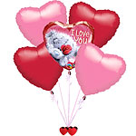 Tatty Teddy Valentines Balloon Bouquet - SAVE 10%