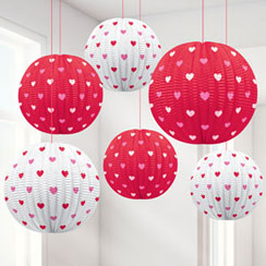 Valentines Mini Hanging Lanterns - 11.4cm