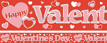 Valentines Metallic Banner Decoration - 3.65m