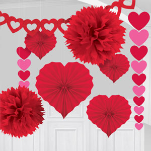 Valentines Paper Decorating Kit - Valentines Decorations