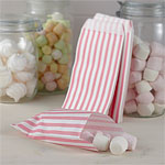 Vintage Lace Pink Stripe Candy Bags - 19.5cm