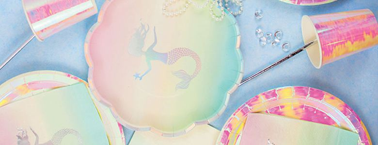 We Heart Mermaid Party Supplies