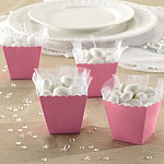 Baby Pink Scallop Favour Boxes - 6cm