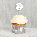 Wedding Baking Cups & Picks