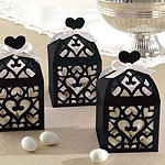 Black Lantern Favour Boxes - 6cm