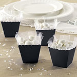 Black Scallop Favour Boxes - 6cm