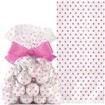 Wedding Bright Pink Treat Bag with Bow