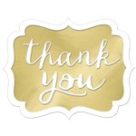 Gold Thank You Stickers