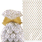 Wedding Gold Treat Bag with Bow