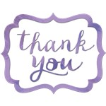 Lavender Thank You Stickers
