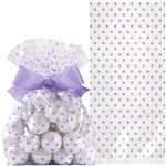 Wedding Lavender Treat Bags with Bow