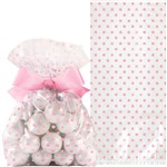 Pink Treat Bags with Bow