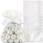 Wedding White Treat Bags with Bow