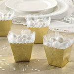 Gold Scallop Favour Boxes - 6cm