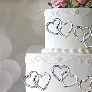 Cake Decor Hearts : Heart Wedding Cake Decorations