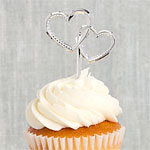 Heart Shaped Wedding Cake Picks