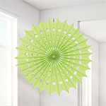 Honeydew Damask Paper Fan - 40cm