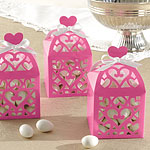 Hot Pink Lantern Favour Boxes - 6cm