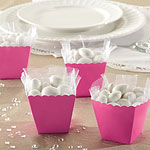 Hot Pink Scallop Favour Boxes - 6cm