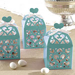 Robins Egg Blue Lantern Favour Boxes - 6cm