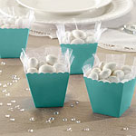 Robins Egg Blue Scallop Favour Boxes - 6cm